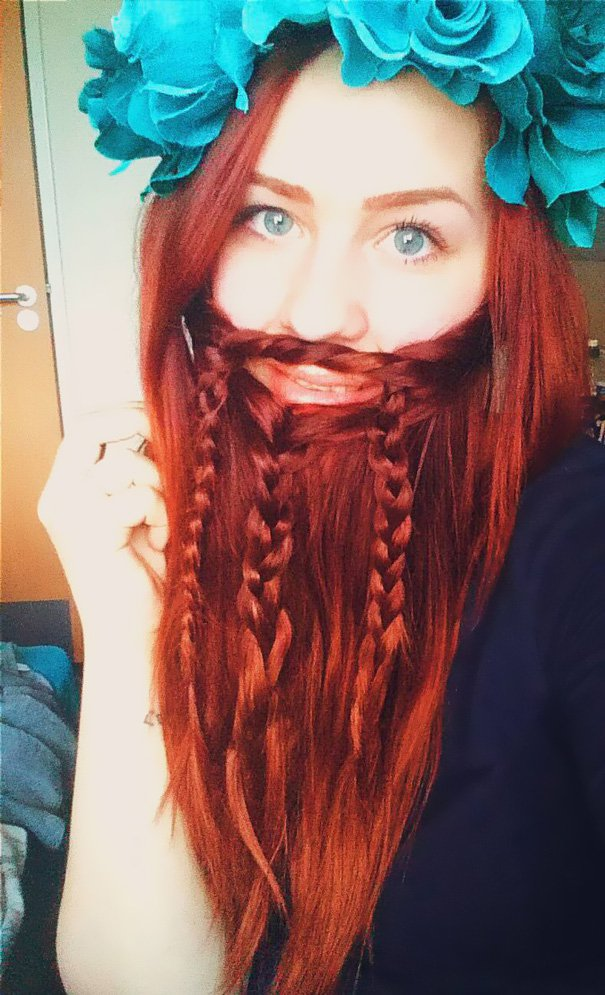 red hair beard