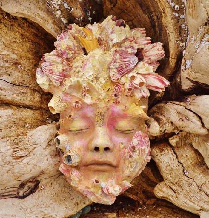 sculptures-debra-bernier-barnacle-face