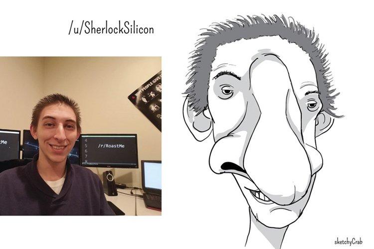 sketchycrab-roast-me-nose