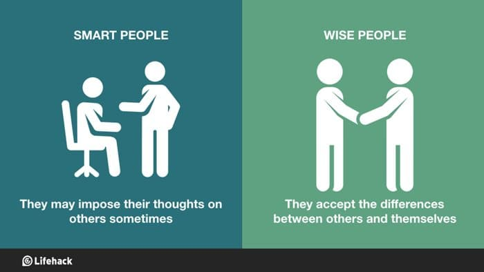 8 Major Differences Between Being Wise And Being Smart Being Yourself Quotes Tumblr