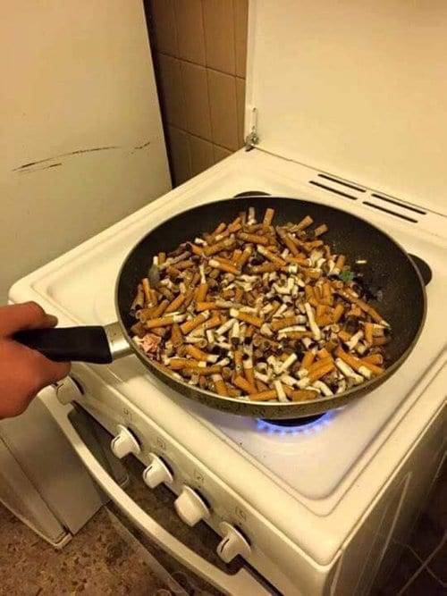strange-things-cooking-cigarette-butts