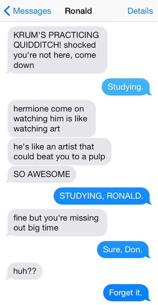 11 Texts Between 'Harry Potter' Characters That Will Have ...