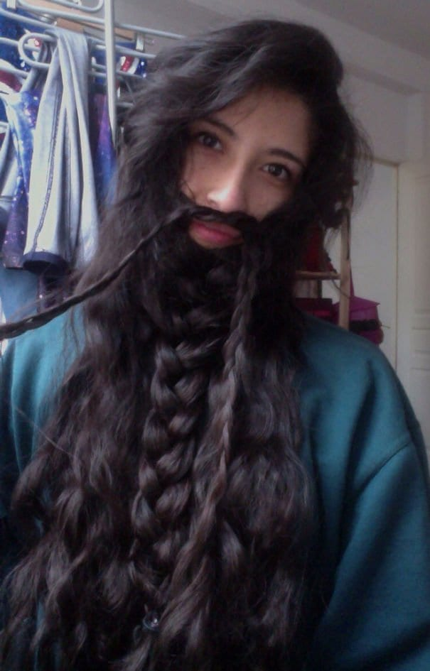 thick black beard