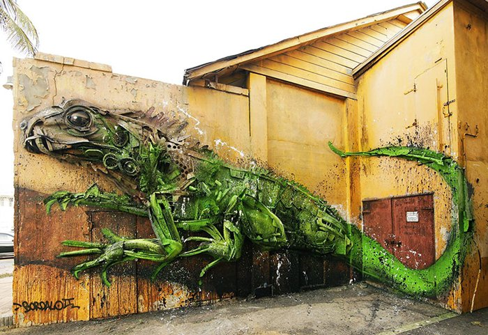 trash-animal-sculpture-artur-bordalo-wall-lizard