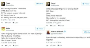 tweets about marriage part one