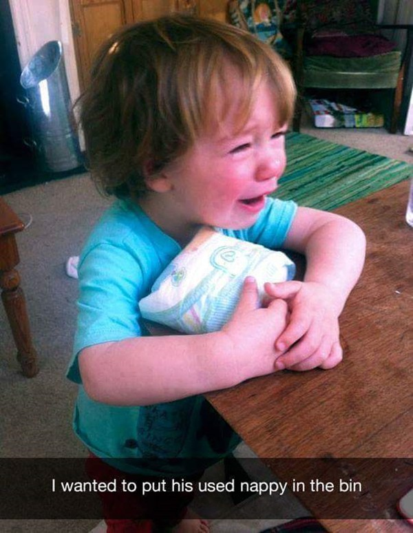 why-kids-are-crying-throw-out-used-diaper