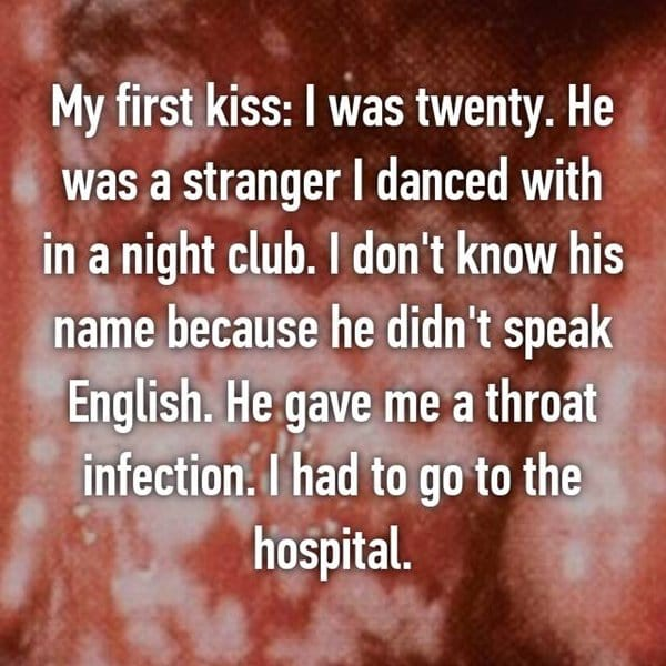 bad-first-kiss-stories-throat-infection
