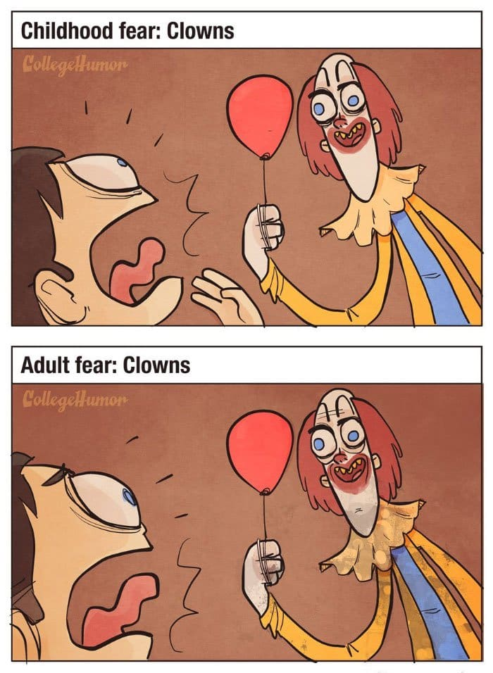 childhood-fears-vs-adult-fears-clowns