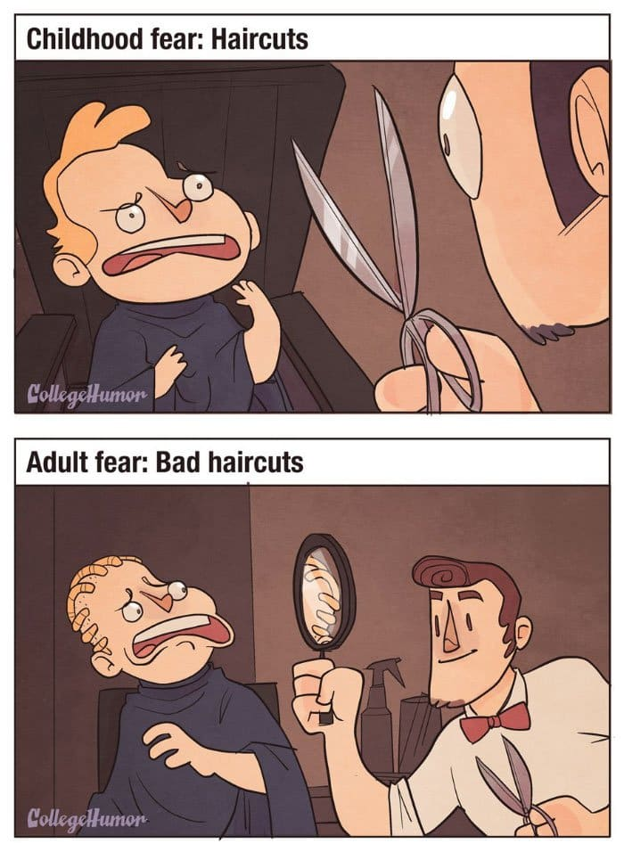 childhood-fears-vs-adult-fears-haircuts
