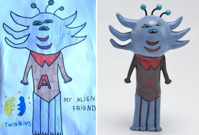 childrens-drawings-into-figurines-alien-friend