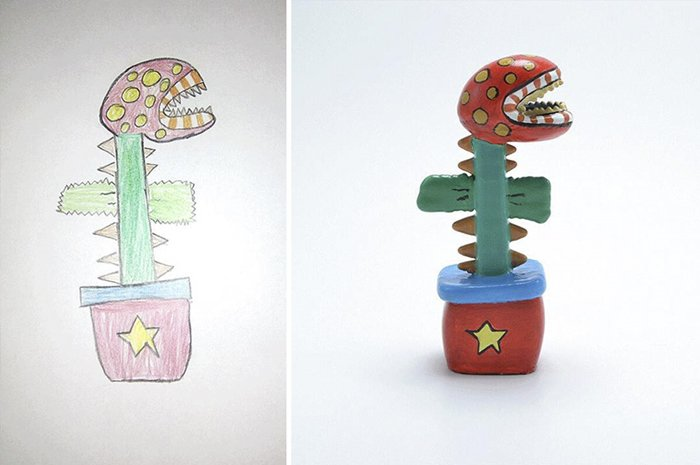 childrens-drawings-into-figurines-carnivorous-plant