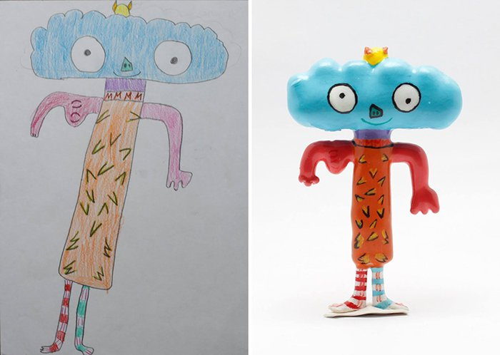 childrens-drawings-into-figurines-cloud-headed