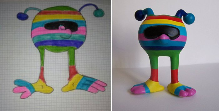 childrens-drawings-into-figurines-rainbow-creature