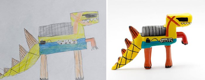 childrens-drawings-into-figurines-robot-dinosaur