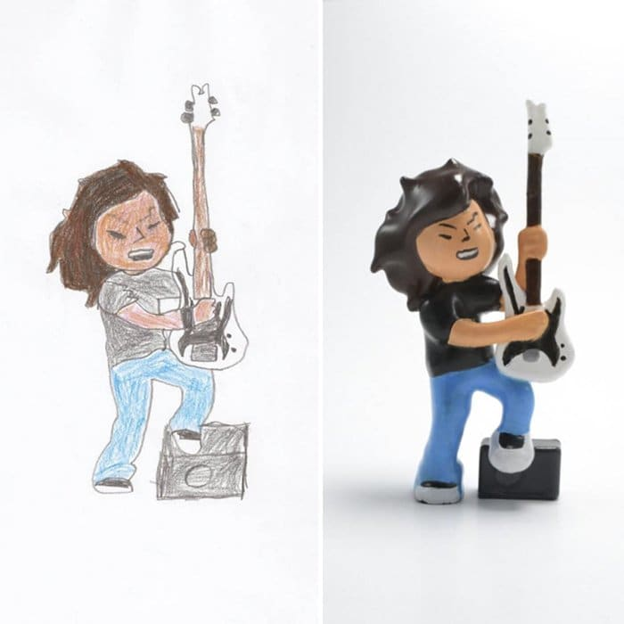 childrens-drawings-into-figurines-rocking-out