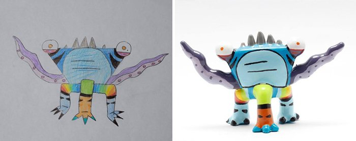 childrens-drawings-into-figurines-three-leg-tentacles