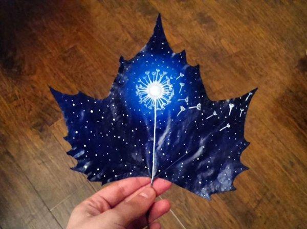 fallen-leaf-art-dandelion