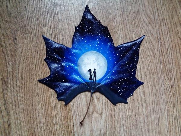 fallen-leaf-art-moon-silhouette