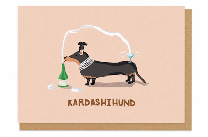 famous-people-animal-illustrations-champagne-kardashihund