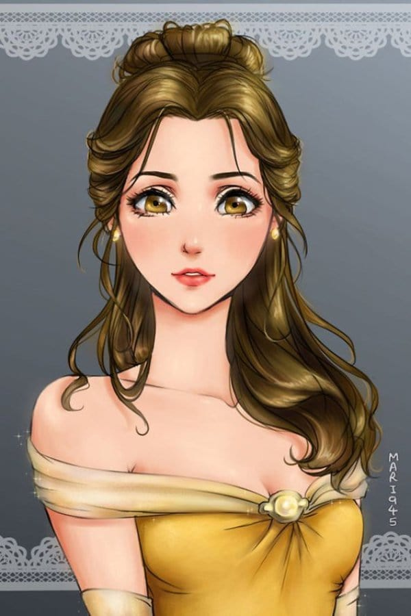 female-disney-characters-anime-belle
