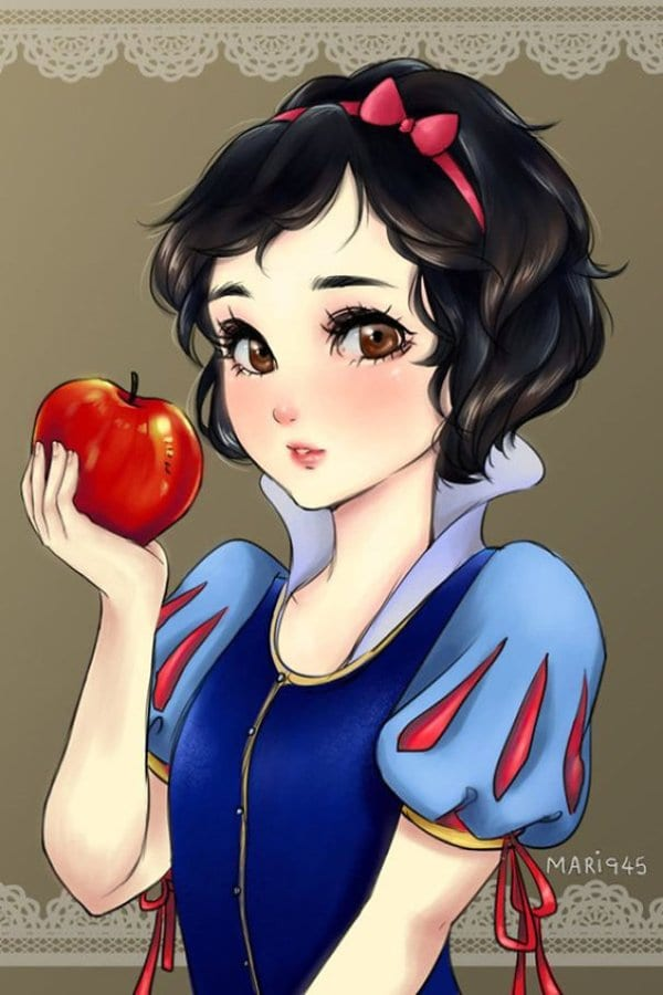 female-disney-characters-anime-snow-white