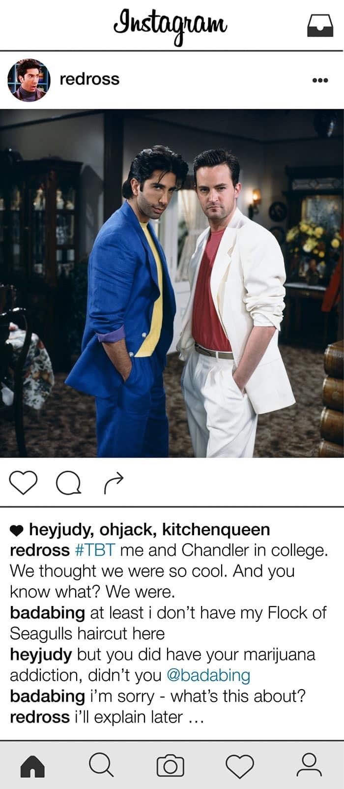 friends-ross-geller-instagram-80s-ross-chandler