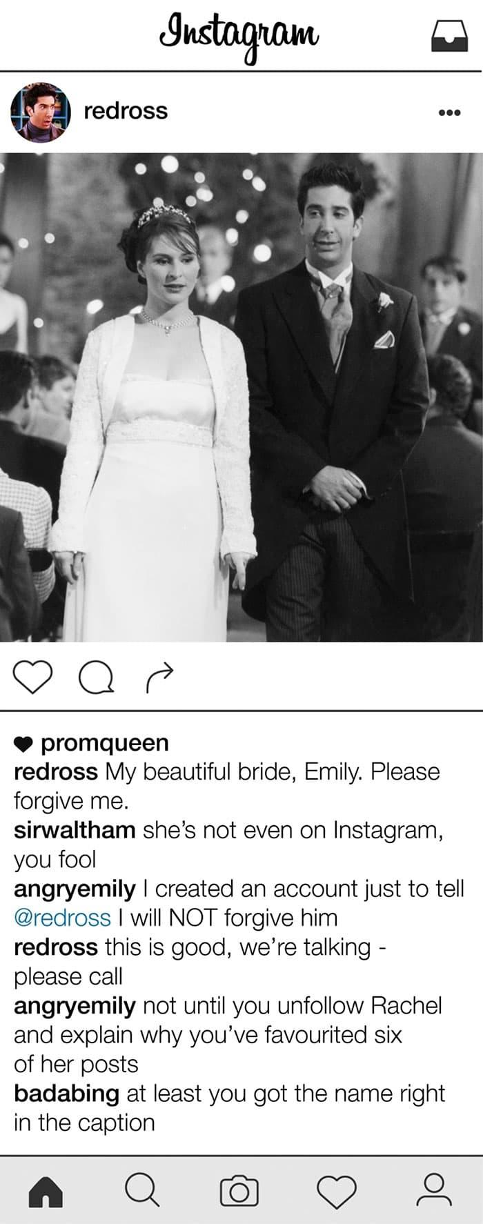 friends-ross-geller-instagram-emily