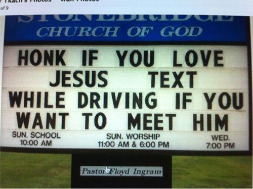 funny-signs-text-while-driving-meet-jesus