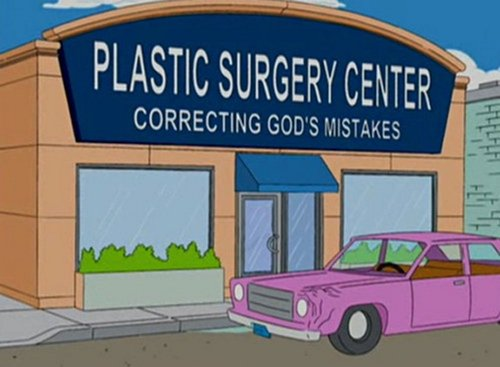 funny-simpsons-signs-plastic-surgery-center