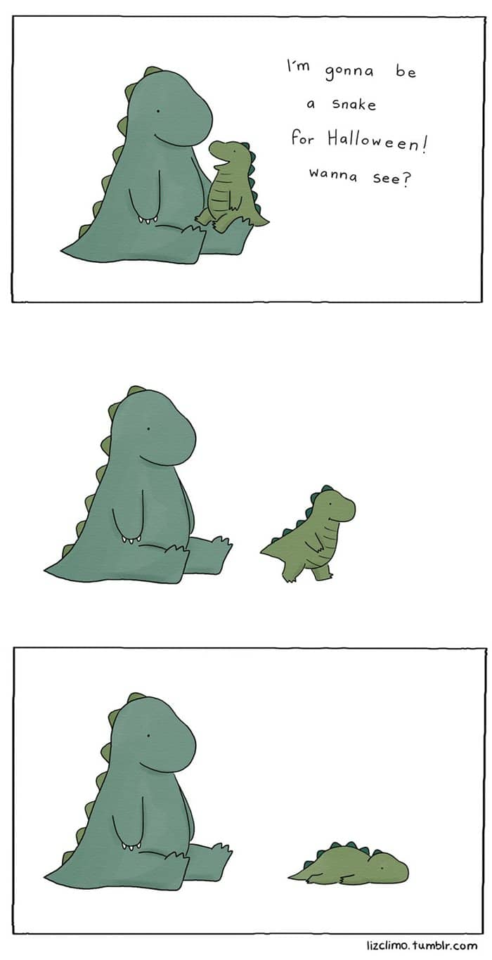 halloween-animal-comics-liz-climo-dino-snake