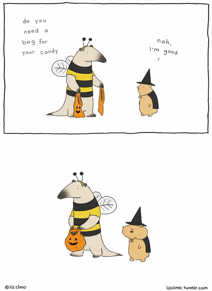 halloween-animal-comics-liz-climo-hamster-candy-pouches