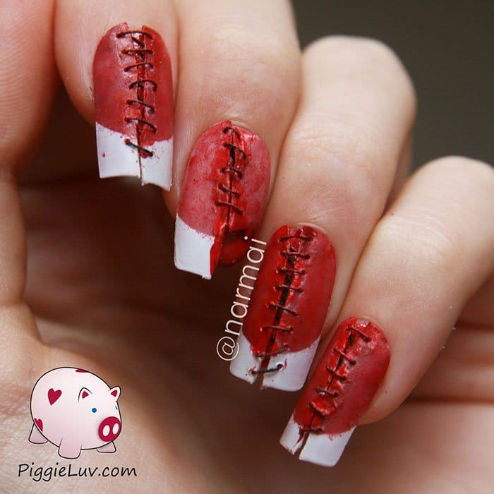 halloween-creepy-nail-art-stitches