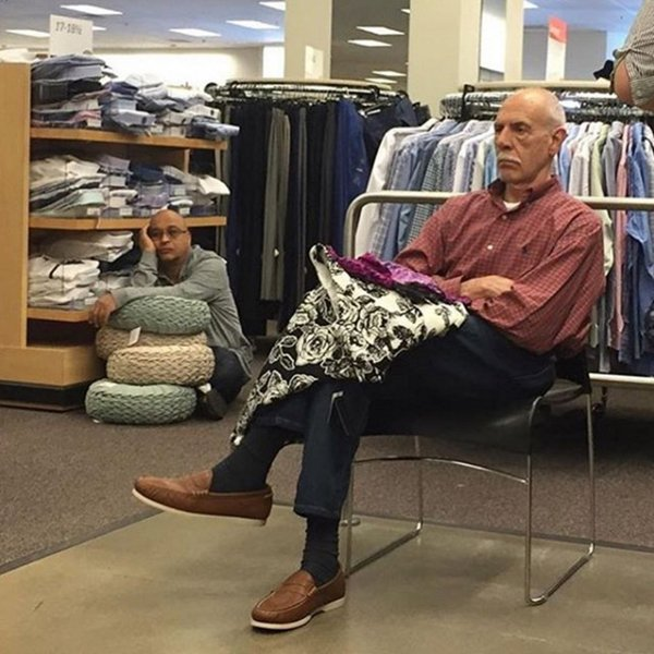 12 Photos Of Men Waiting For Their Partners In Stores