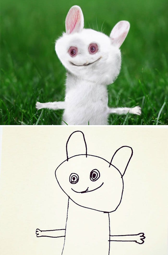 kid-drawings-realistic-bunny