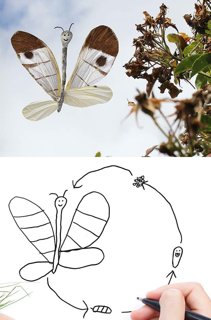 kid-drawings-realistic-butterfly