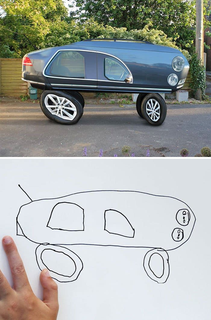 12 Kids Drawings Turned Terrifyingly Realistic
