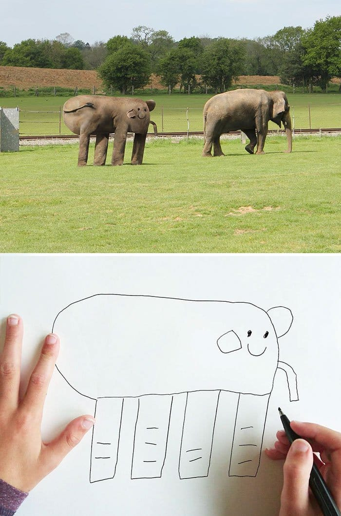kid-drawings-realistic-elephant