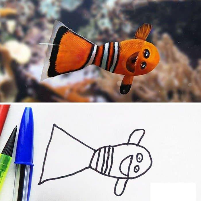 kid-drawings-realistic-fish