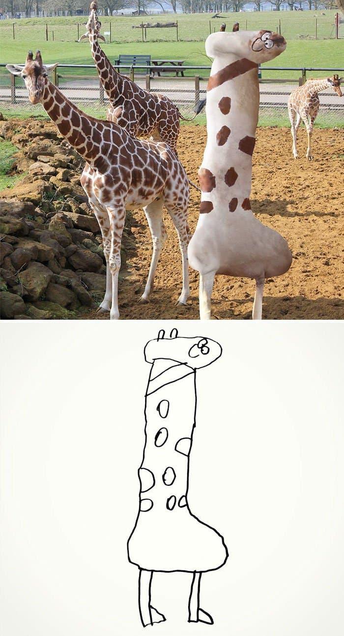 kid-drawings-realistic-giraffe