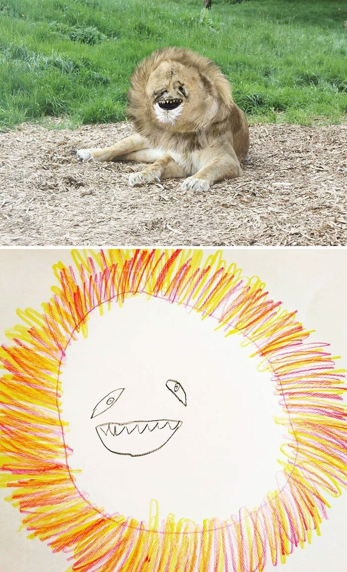 kid-drawings-realistic-lion