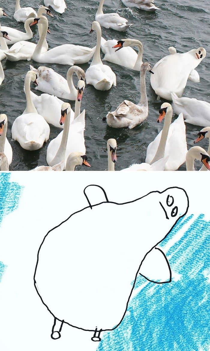 kid-drawings-realistic-swan
