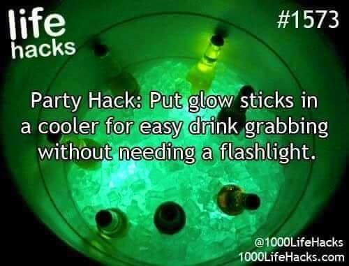 life-hacks-glow-stick-cooler
