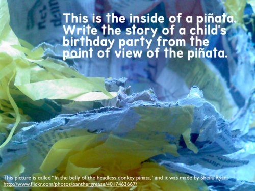 writing-prompts-bday-party-pinata