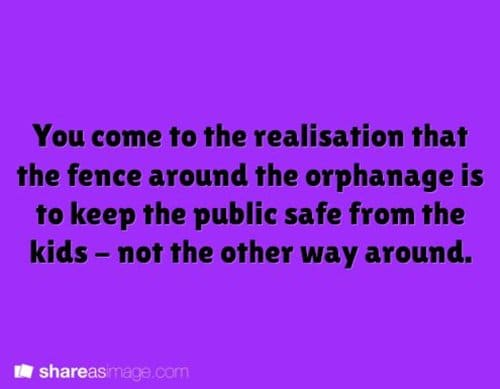 writing-prompts-ophanage-fence-protect-public