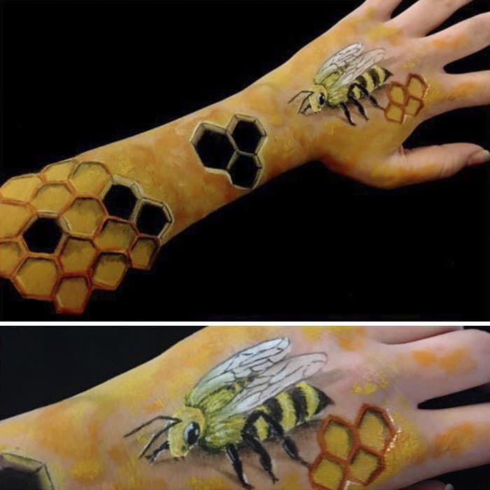 bee-optical-illusion-on-arm