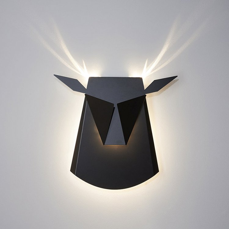 black-stag-wall-light