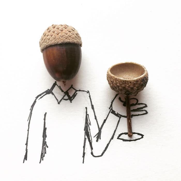 cheers-acorn-illustration