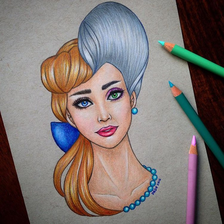 cinderella-vs-the-evil-stepmother-drawing