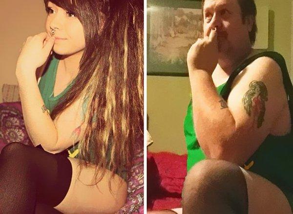 dad-trolling-daughter-selfie-knee-high-sock
