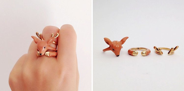 deer-animal-rings